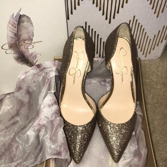 Jessica Simpson scarpe Nib oro Shimmer Heels Poshmark